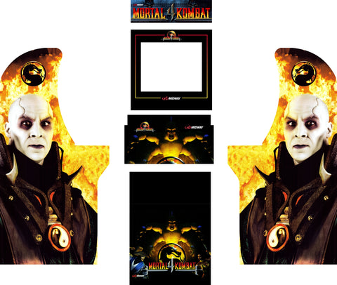 Arcade1Up - Mortal Kombat 4 MK4 Complete Art Kit