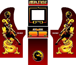 Arcade1Up - Mortal Kombat MK1 Complete Art Kit