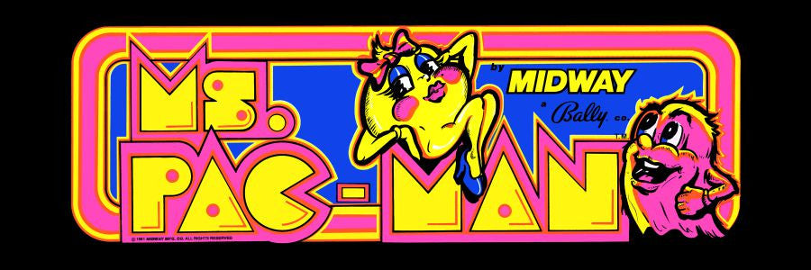 Ms Pac Man Plexi Glass Marquee Escape Pod Online