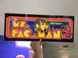 Ms. Pac-Man Plexi-Glass Marquee