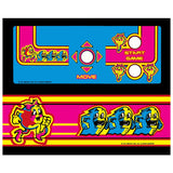 Ms Pac-Man Mini Cabaret Control Panel Overlay - CPO