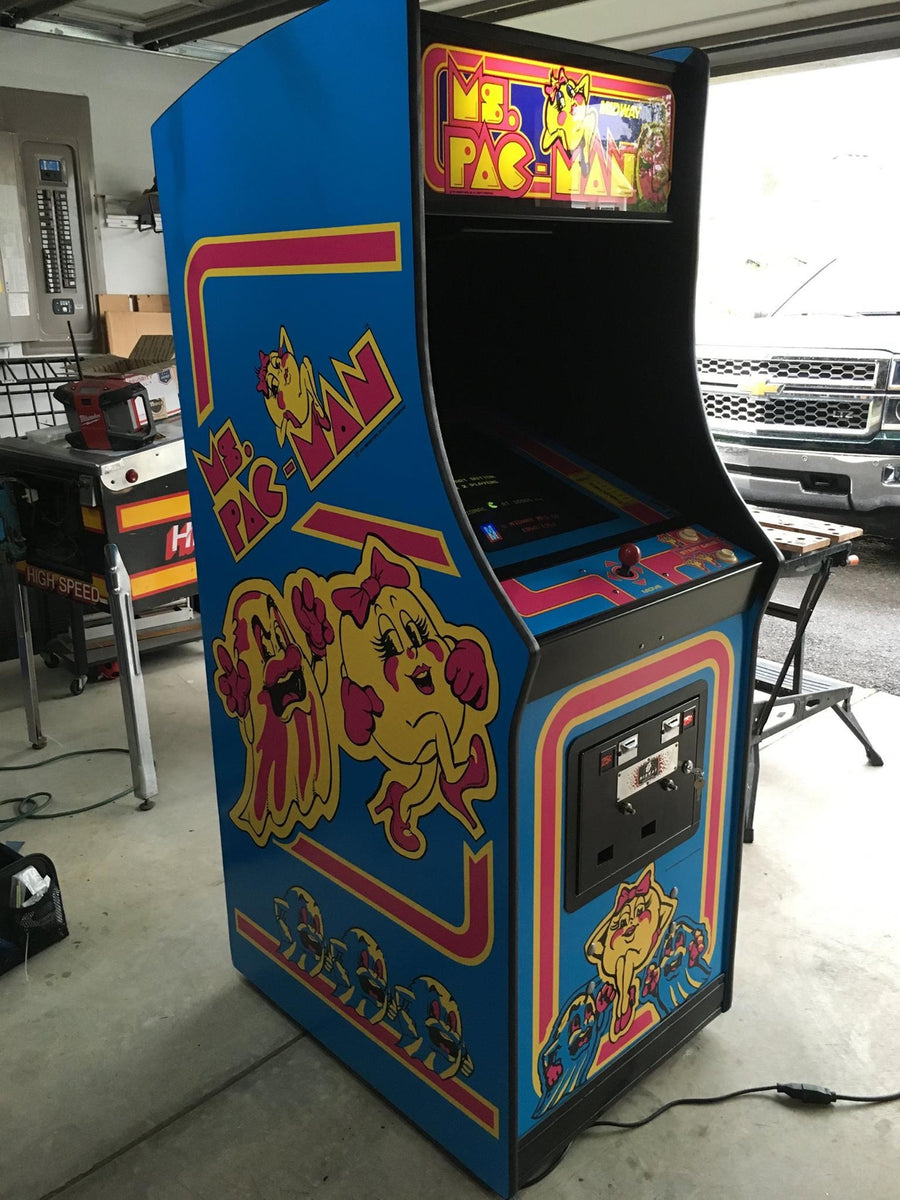 Ms Pac Man Full Side Art Kickplate Set Escape Pod Online