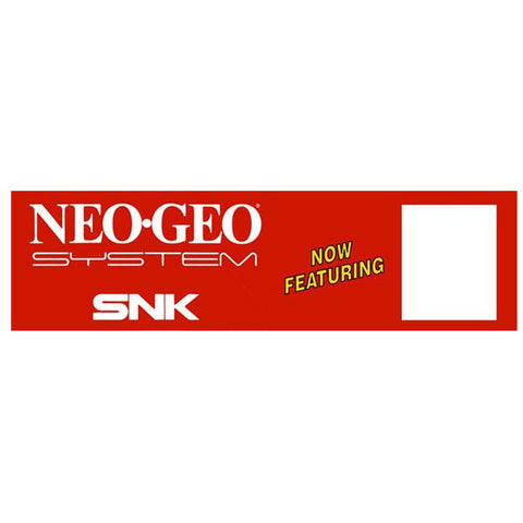 Neo Geo System SNK Generic Arcade Marquee