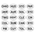 Ohio City Oval Decals