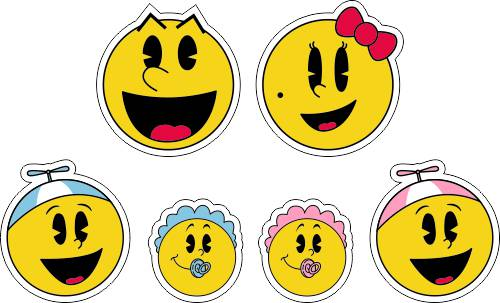 Pac-Man Family Car Decals