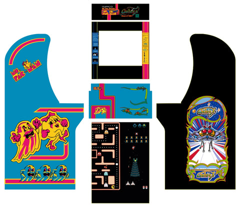 Arcade1Up - Ms. Pac-Man Galaga 20th Anniversary Complete Art Kit