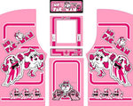 Custom Pink Ms. Pac-Man Complete Restoration Kit