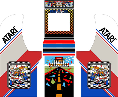 Arcade1Up - Pole Position Complete Art Kit