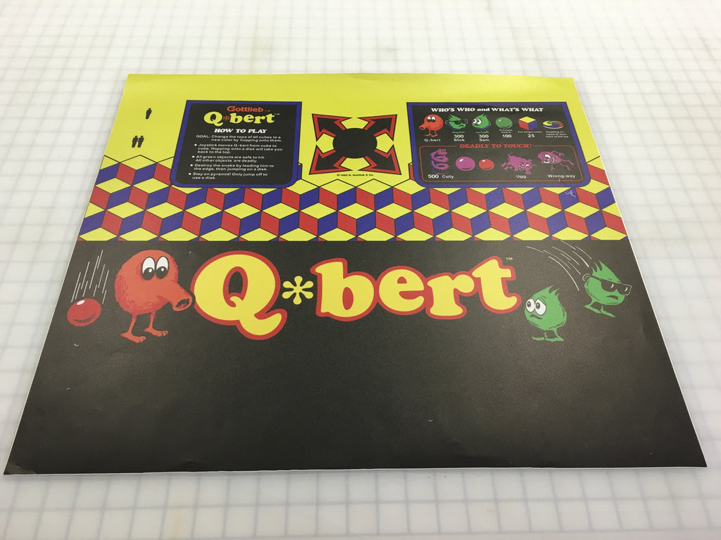 Qbert CPO Combo - Top and Front Control Panel Overlay