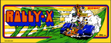 Rally X Arcade Marquee