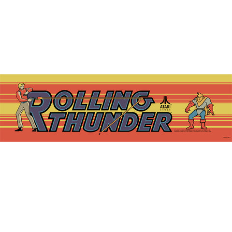 Rolling Thunder Arcade Marquee