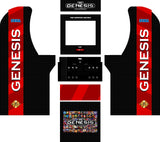 Arcade1Up - Sega Genesis Art Kit