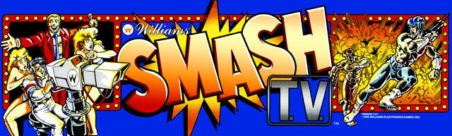 Smash TV Arcade Marquee