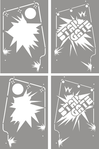 Stargate Stencil Set Side Art