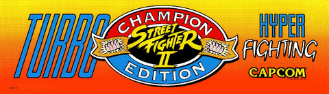 Street Fighter II Champion Edition Turbo Hyper Fighting Marquee