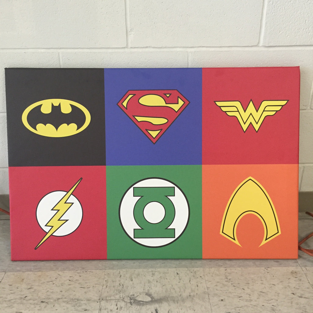 Super Hero Logo Canvas Print