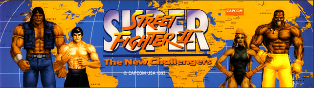 Super SF II New Challengers Arcade Marquee