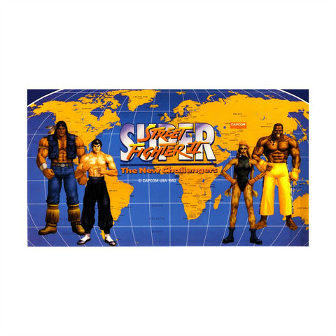 Super Street Fighter II New Challengers Marquee (Big Blue Size)