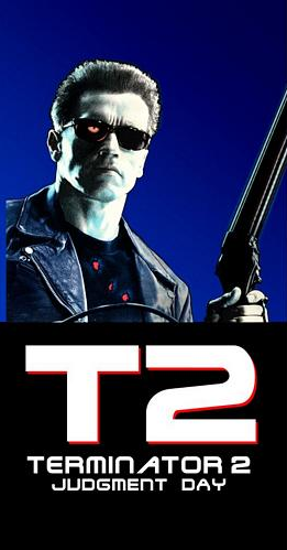 Terminator 2 Side Art Decals - T2