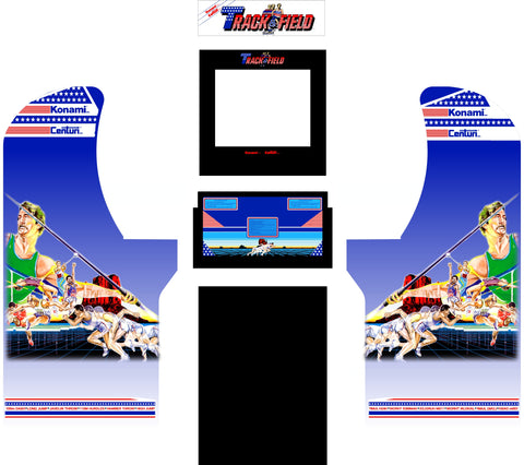 Arcade1Up - Track N Field Arcade Complete Art Kit