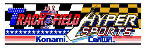 Track & Field Hyper Sports Combo Arcade Marquee