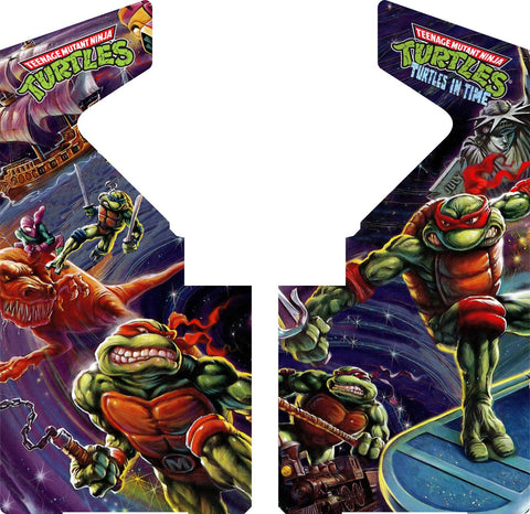 TMNT Turtles In Time (SNES Version) - Side Art Decals