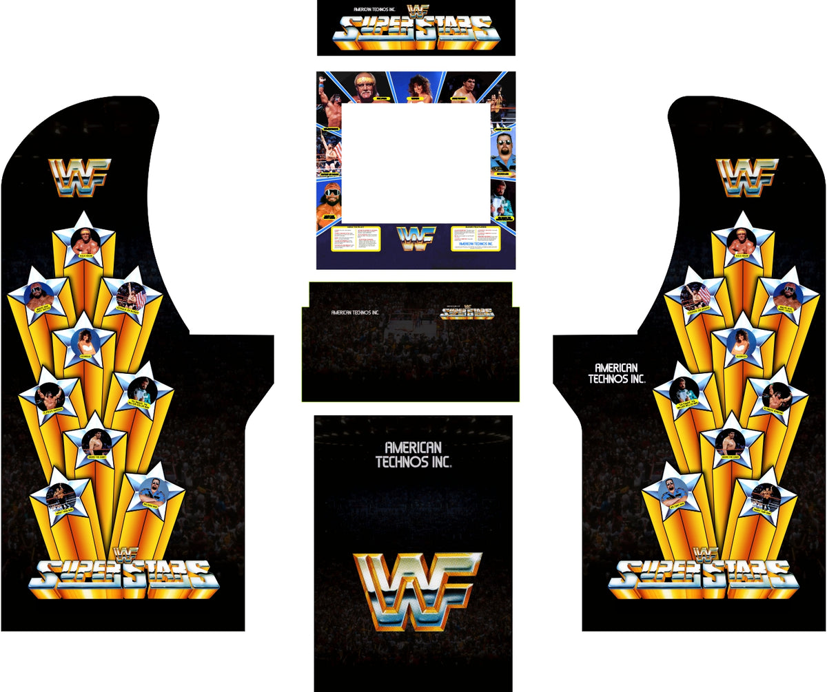 Arcade1up Wwf Superstars Complete Art Kit Escape Pod