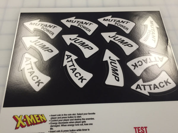 X-Men CPO - Control Panel Instruction/Button decals