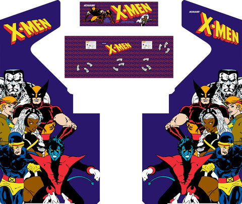 4 Player X-Men Complete Restoration Kit (Xmen 4 Player)