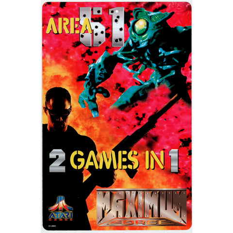 Area 51 / Maximum Force 2 Games in 1 Promo Poster Print