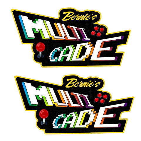 Arcade Multicade Side Art (Custom Name)