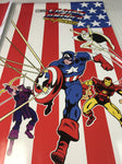 Captain America and the Avengers Side Art Decals