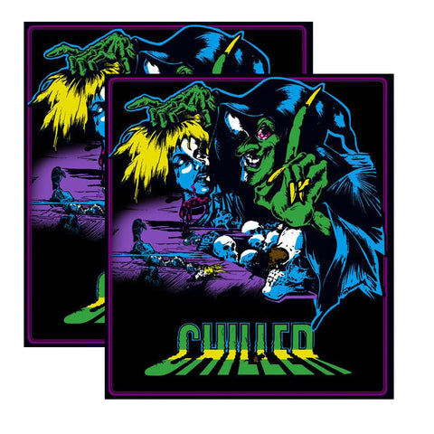 Chiller Arcade Side Art Decals