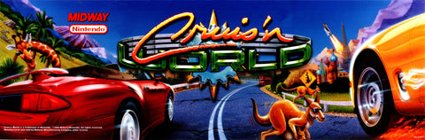 Cruis'n World Arcade Marquee Translite (SDS)