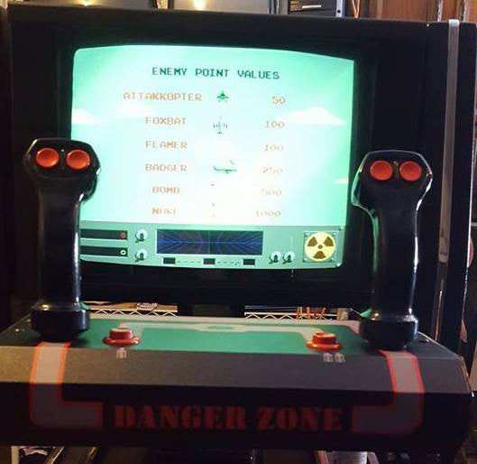 Danger Zone Cinematronics CPO - Control Panel Overlay