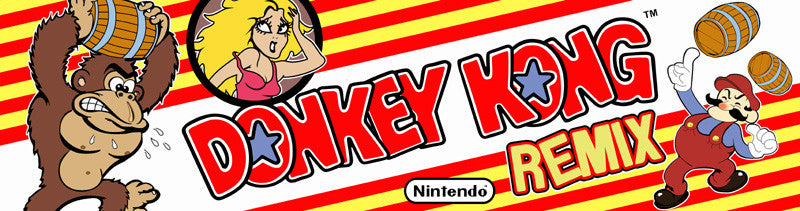 Donkey Kong Remix Arcade Game Marquee Escape Pod Online