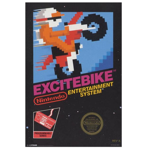 ExciteBike Arcade Box Poster Print