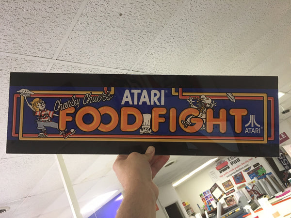 Food Fight Arcade Marquee