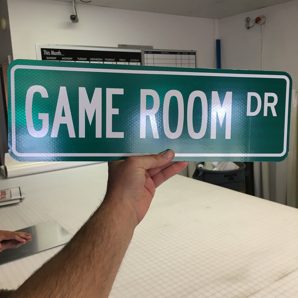 Man Cave Room Sign : Game room or man cave street signs custom