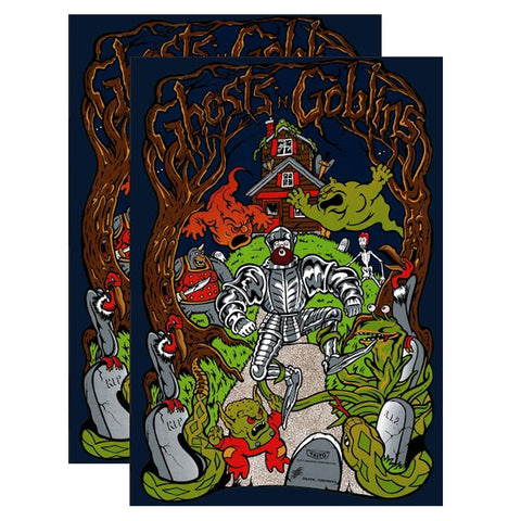 Ghosts n Goblins Side Art Decals