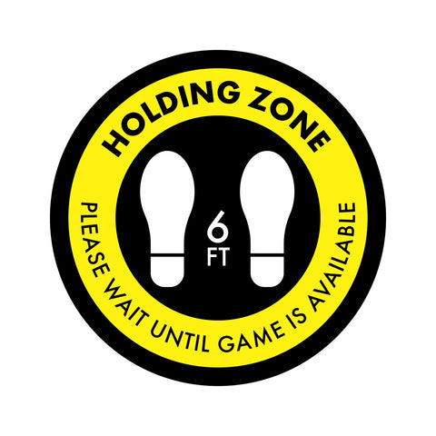 Holding Zone Next Game Wait Area Floor Graphic