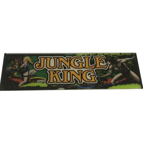 Vintage - Jungle King Glass Arcade Marquee