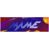 MAME Multicade Arcade Marquee - Blue/Orange Version