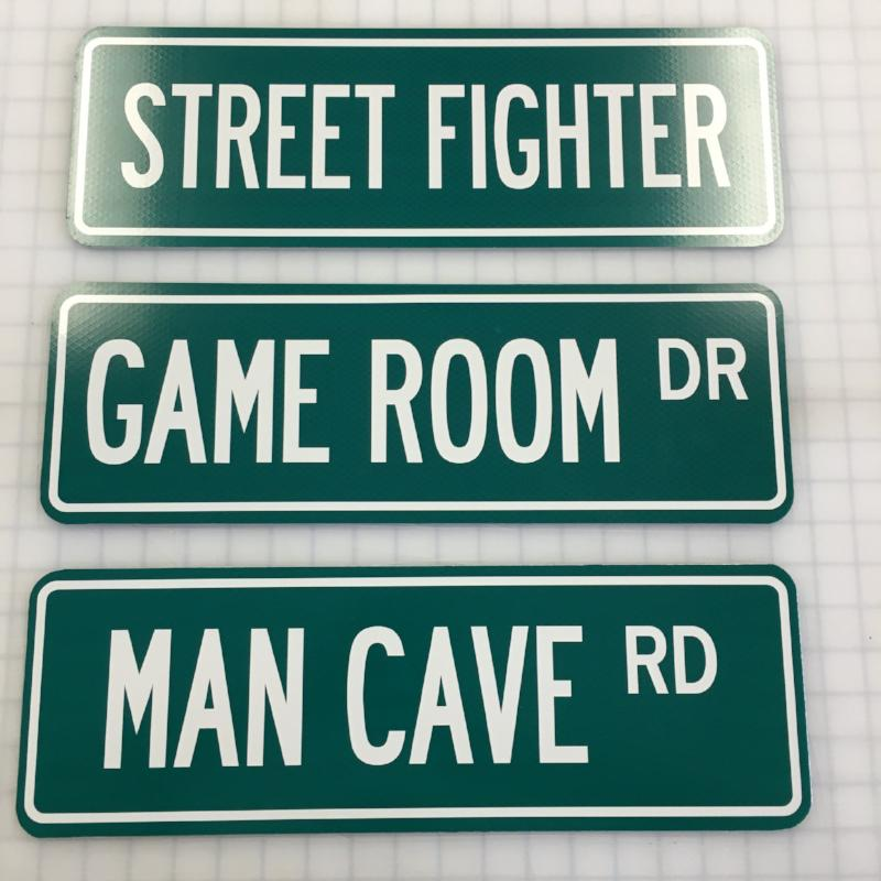 Personalized Man Cave Signs Free Shipping : Game room or man cave street signs custom