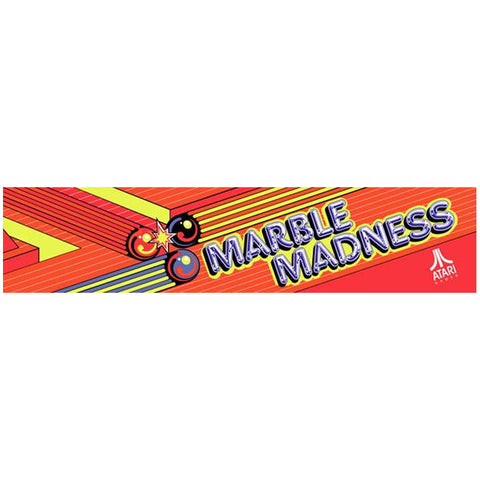 Marble Madness Arcade Marquee
