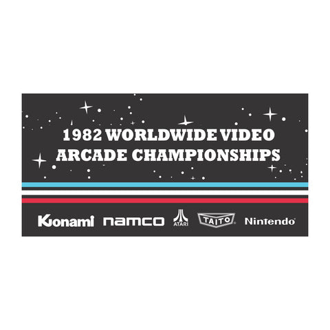 1982 Worldwide Arcade Championships Banner from the Movie Pixels
