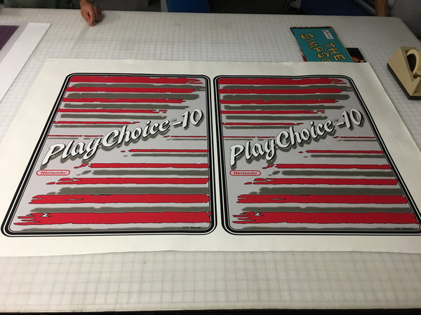 PlayChoice or PlayChoice-10 Side Art Decals