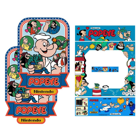 Popeye Arcade Art Complete Restoration Kit