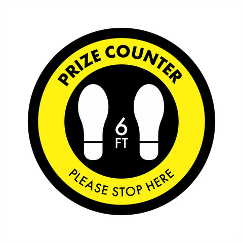 Prize Counter Wait Area Floor Graphic