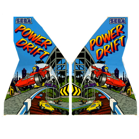 Sega Power Drift Side Art Set